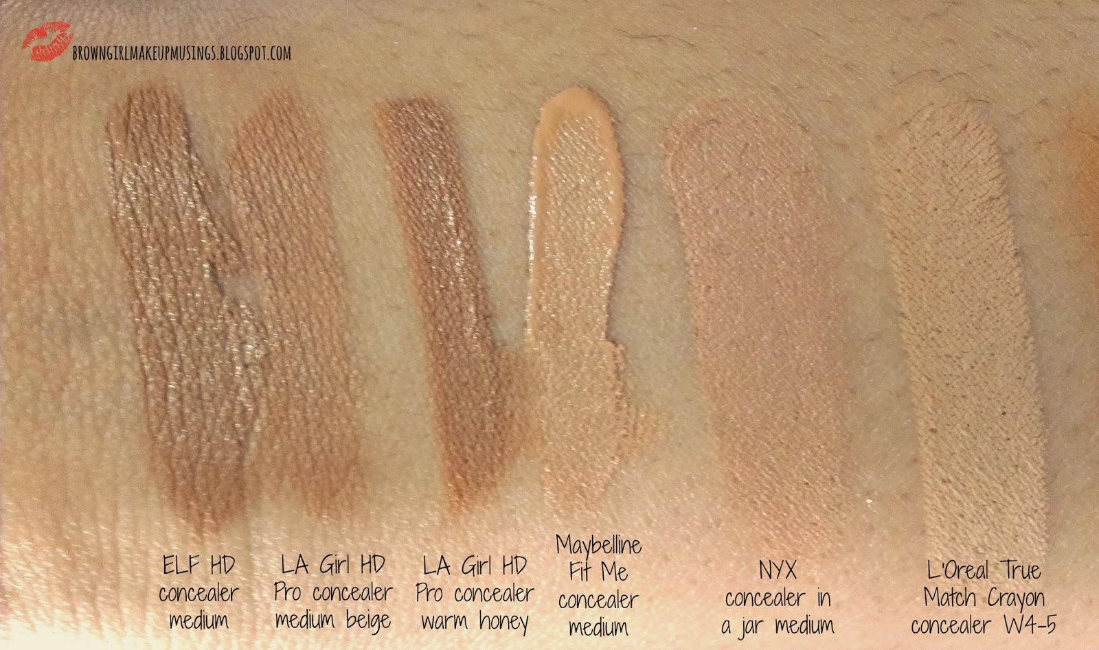 Brown Girl Makeup Musings Pick Or Purge Concealers Maybelline Fit Me Concealer Medium