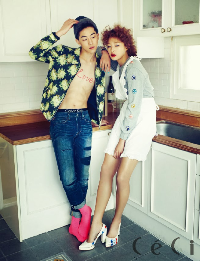 The beautiful choi ara teams up with nam joo hyuk in the february 2014