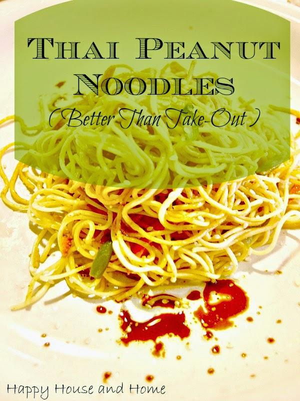 thai noodles, peanut noodles, noodle recipe
