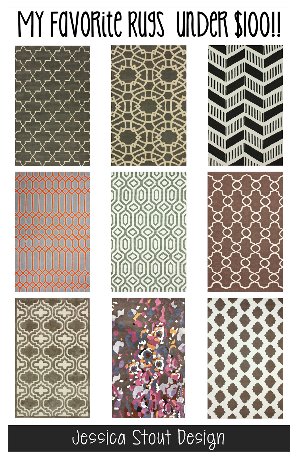 Jessica Stout Design My Favorite Rugs Under 100. Homegoods Area Rug