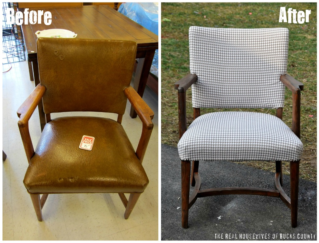 Houndstooth chair brown - Houndstooth Chair Makeover The Nate Berkus Show