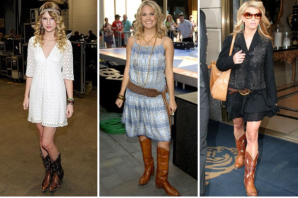 Get Jessed Up What to Wear Weekend Dresses Cowboy Boots