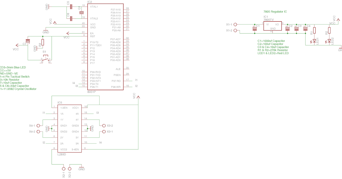 chapter 7 3 - interfacing l293d motor driver with 8051 microcontroller on bread board