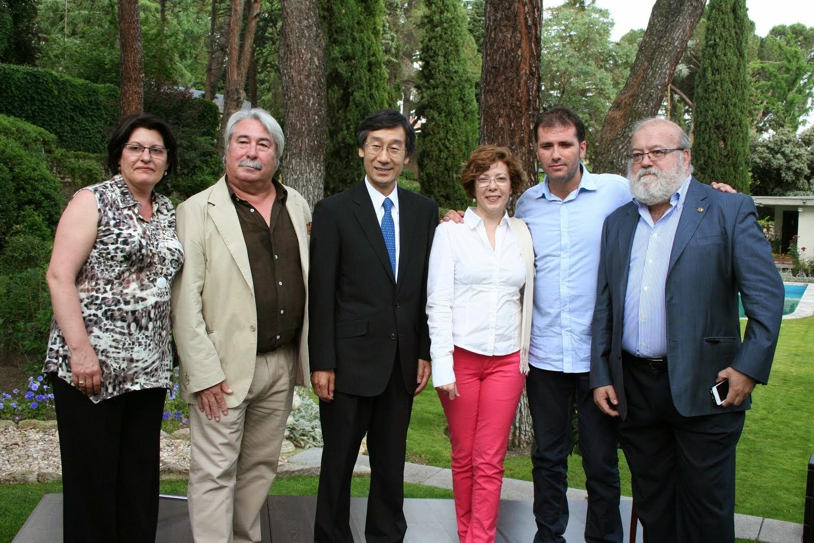 Gente de AGHA en la Embajada de Japón (Madrid)