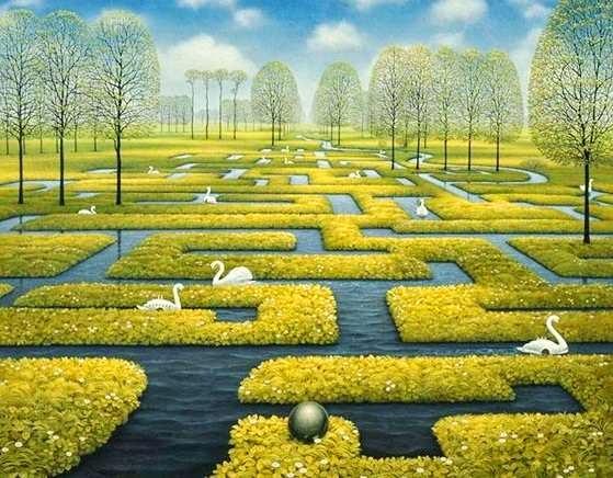cuadro paisaje surrealista