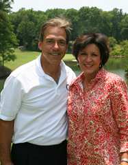 Nick Saban's toughest critic may be his wife.