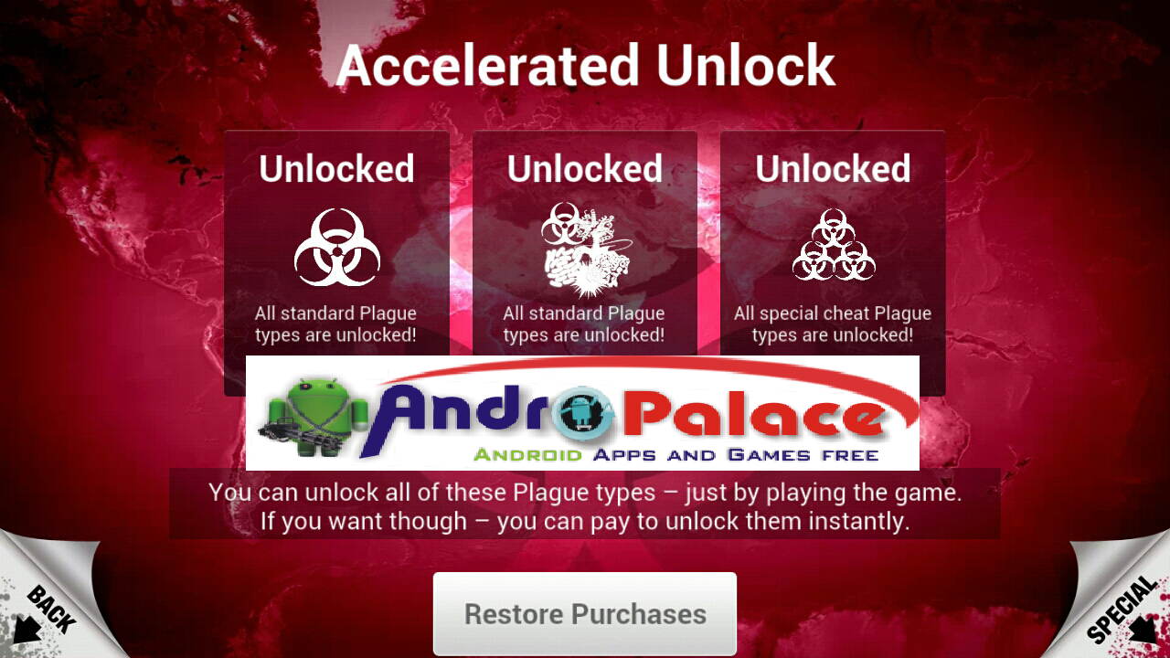 Full Version of Plague Inc v1.5.0.1 No Root+ Fully Unlocked Mod APK