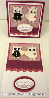 Owl Wedding Card Punch Art