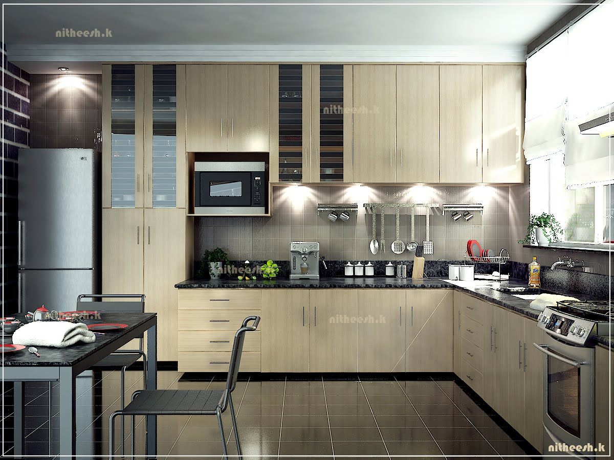 3d visualiser in qatar kitchen in muscat for Kitchen design qatar