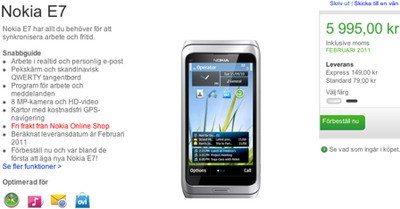 Nokia E7 Communicator Pre-orders available in Finland and Sweden 2