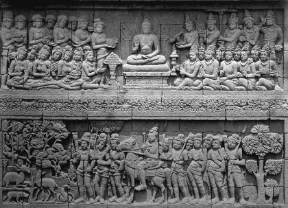 Gambar Relief Candi Borobudur, pasukan