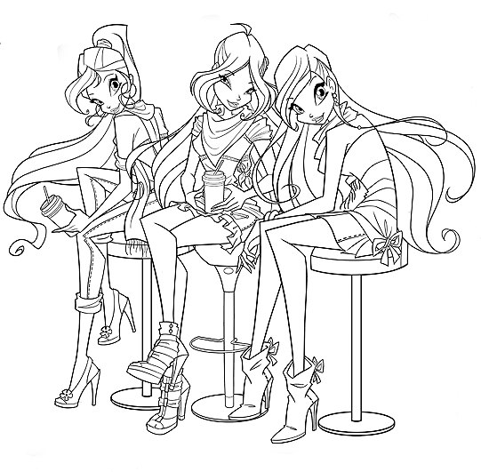 Winx Club All: Nuevas imagenes Winx Club estilo cafe en la 5º ...