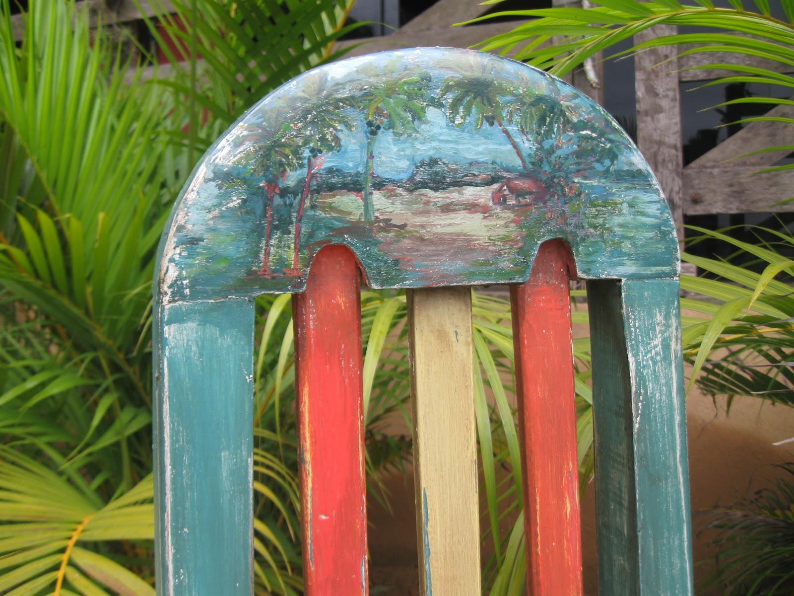 cadeira patinada motivo mar jogo de cadeiras patinadas madeira de  #AA3821 1600x1200