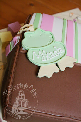 diaper bag baby shower cake edible baby shoes teether rattle