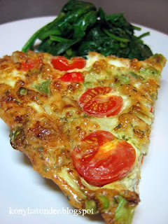 veggie-frittata-and-butter-spinach