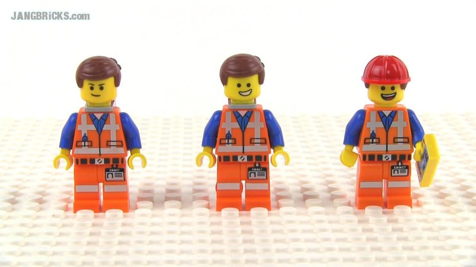 LEGO Movie Emmet Wyldstyle Minifig Variants Compared