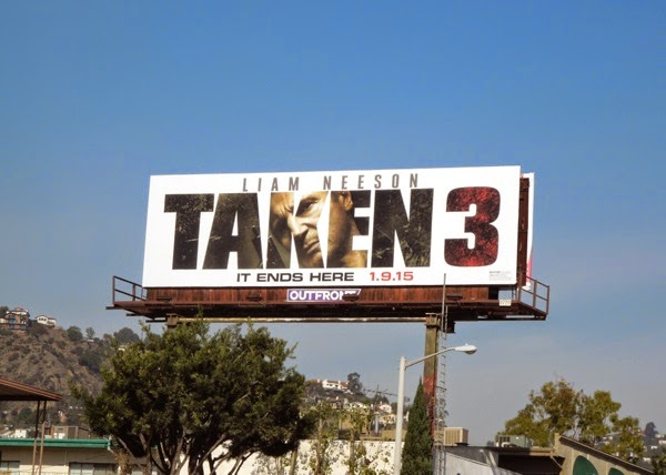 Taken 3 movie billboard