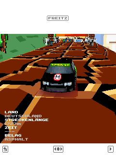 Screenshots of the Mario rally 3D for java mobile, phone.