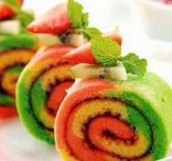 Aneka Rasa Buah dalam Fruity Rollcake