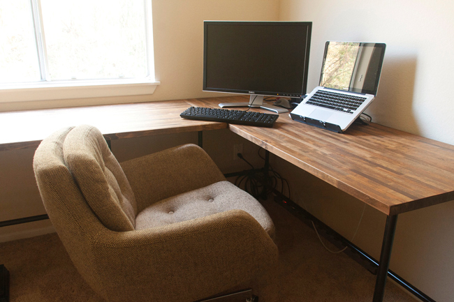 Insideways Diy Custom Desk: diy home office desk plans