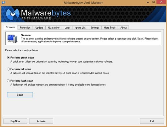 Malwarebytes Anti-Malware - 560x426