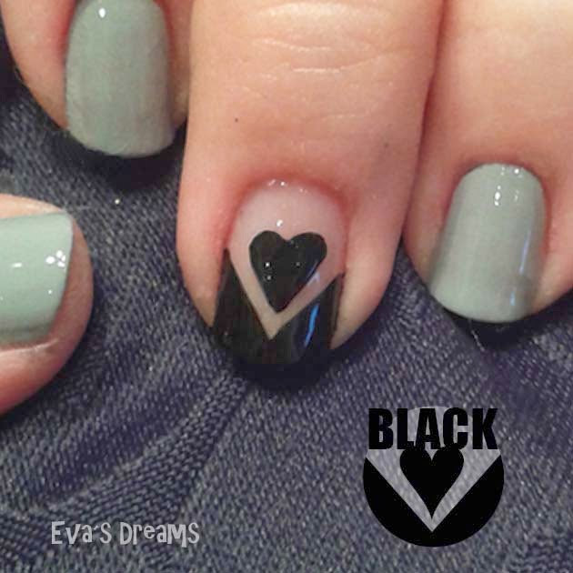 Nails of the week: ♥ Black Heart ♥