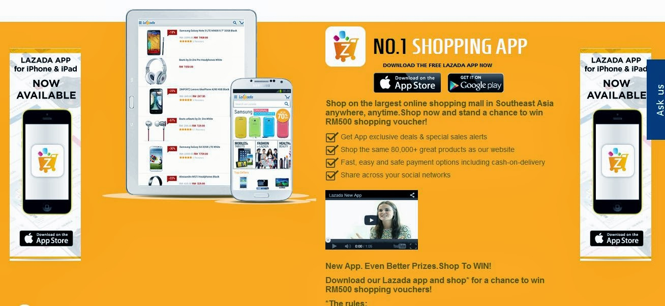 Lazada iOS and Android apps