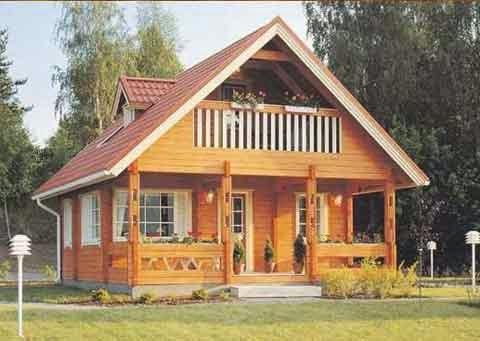 gambar rumah kayu keren mungil