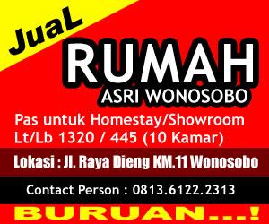 Jual Rumah Asri Wonosobo, cocok untuk homestay dan showroom. Minat hubungi 081361222313 Lokasi Di jalan Raya Dieng Wonosobo
