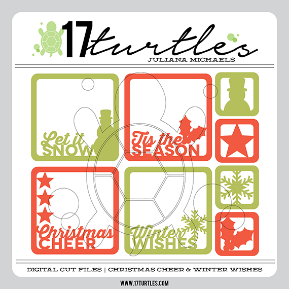 Christmas Cheer & Winter Wishes Digital Cut Files by 17turtles Juliana Michaels