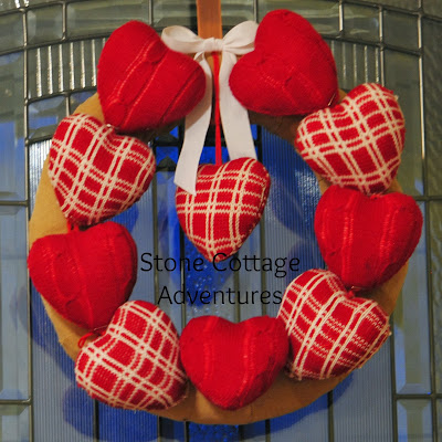 interchangeable heart wreath