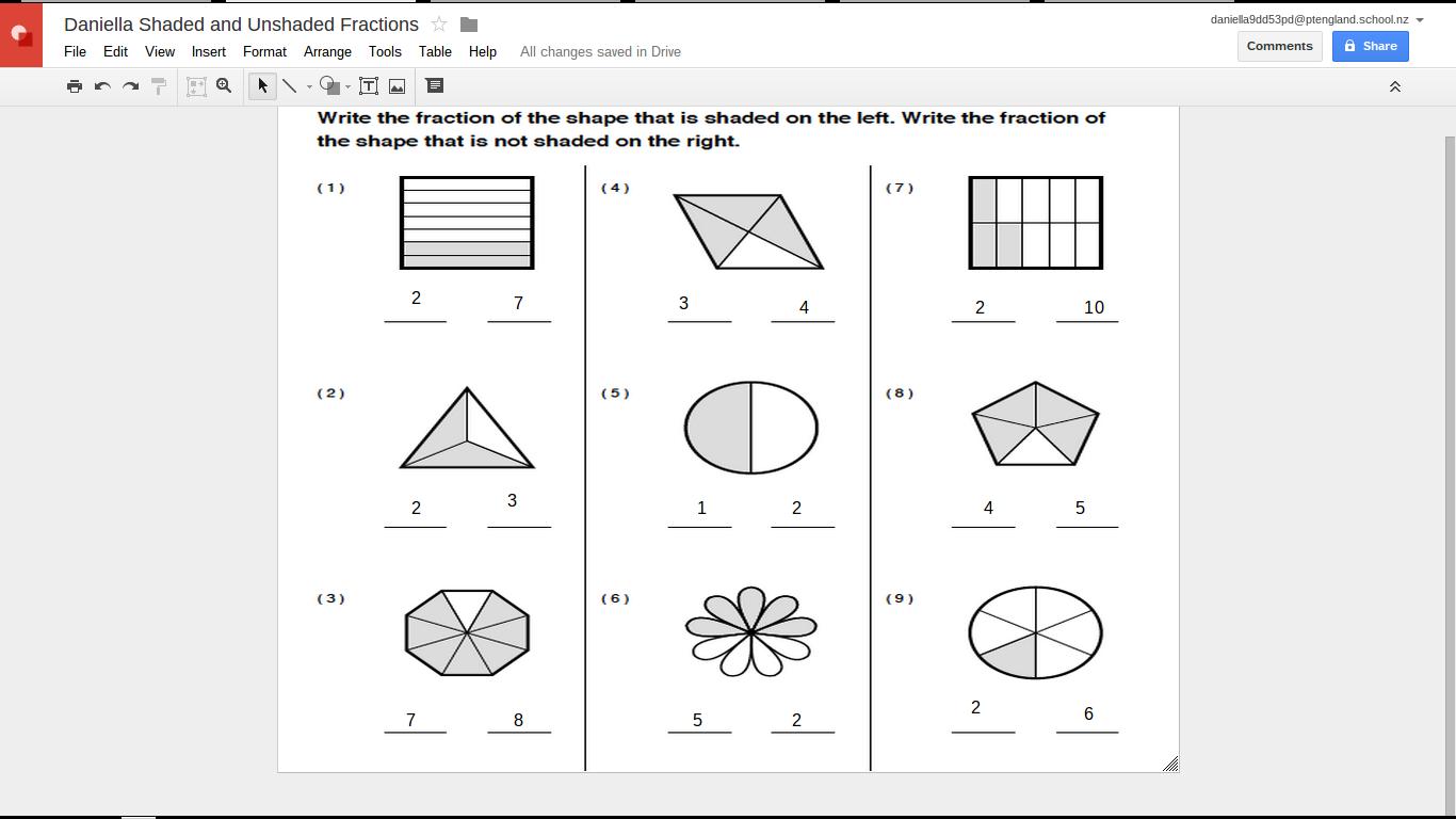 worksheet Shaded Fractions Worksheet shading fractions worksheet on mean median mode shaded unit rates worksheets value of numbers 06