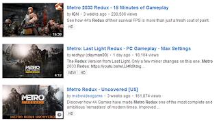 YouTube Search Check Metro Redux