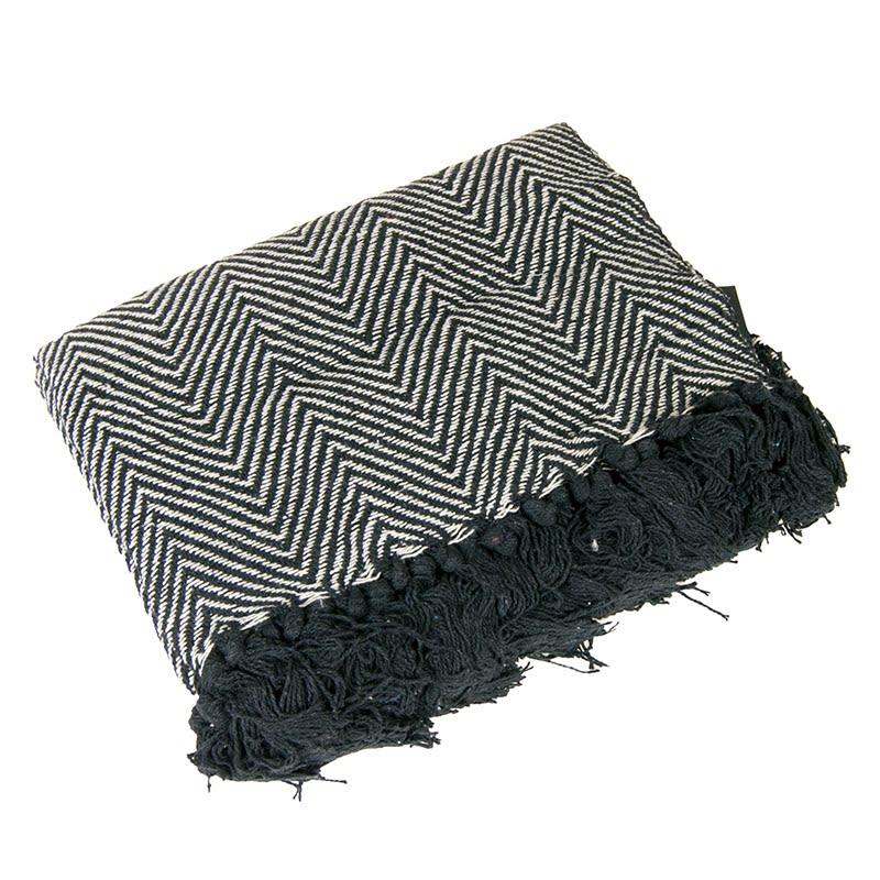 Pled bawełniany BOHO BLACK