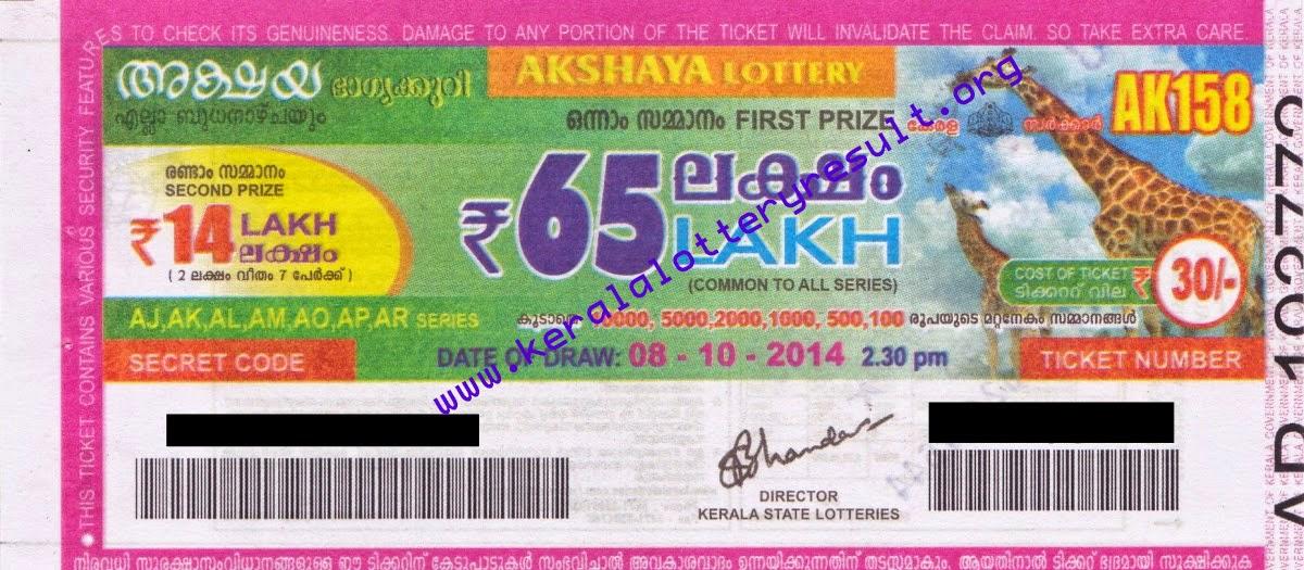 Kerala State AKSHAYA Weekly Lottery