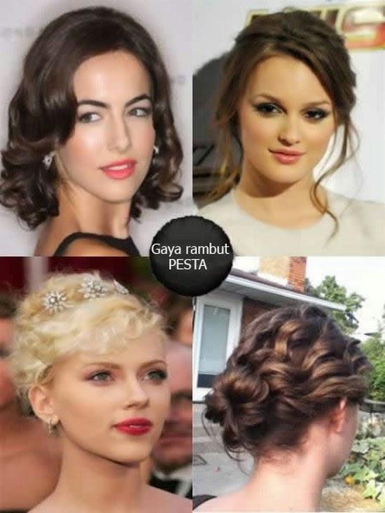Gaya Rambut Ke Pesta - Hairstyle rambut pendek ke pesta
