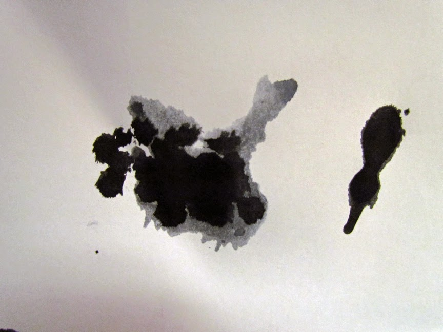 before and after ink blot turkey