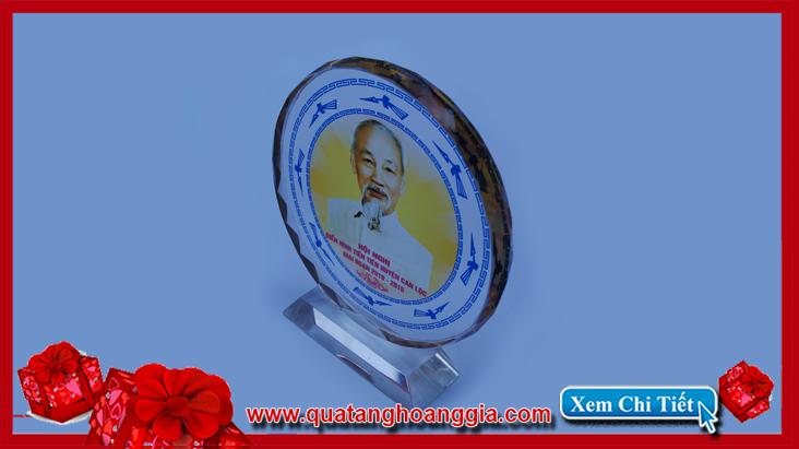 Kỷ niệm chương pha lê quà tặng hội nghị điên hình tiên tiến của huyện can lộc tỉnh nghệ an