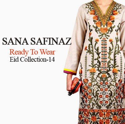 Sana Safinaz Ready To Wear Embroidered Lawn For Eid 2014