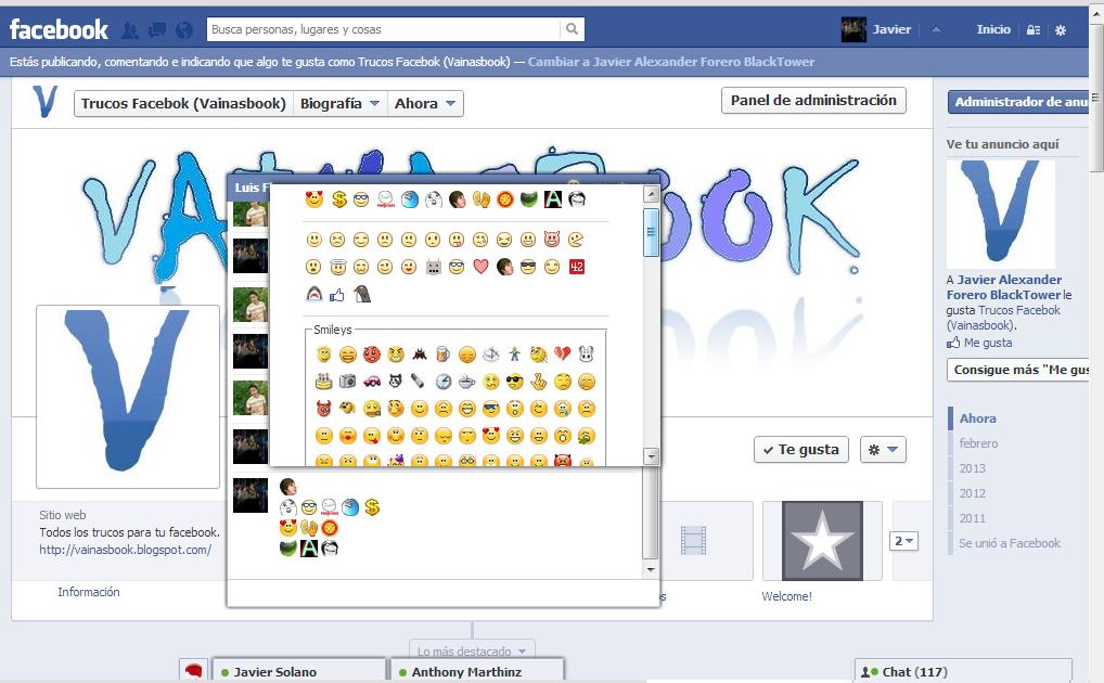 Todos los símbolos de Facebook ϡ (lista) - fsymbols