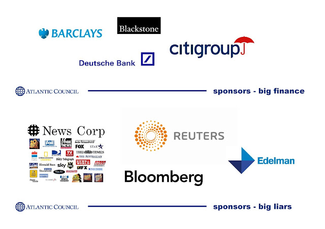 The Queen of Corporate Fascist Faux Democracy Atlantic Council SPONSORS 3