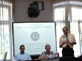 Aspect din şedinţa CNHGS din 13.IX.2011 - comunicarea d-lui drd. Adrian Butnaru...