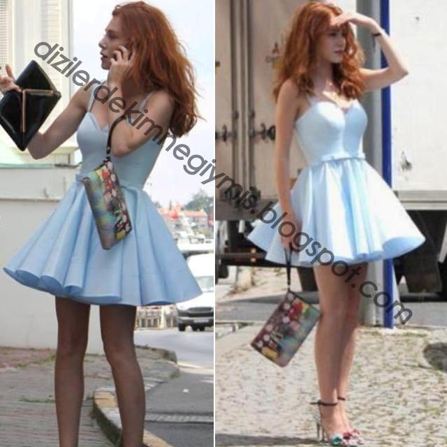 Elçin Sangu Mavi Elbise