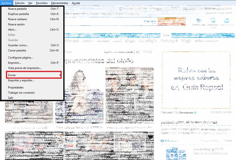 imprimir una página por archivo Internet Explorer