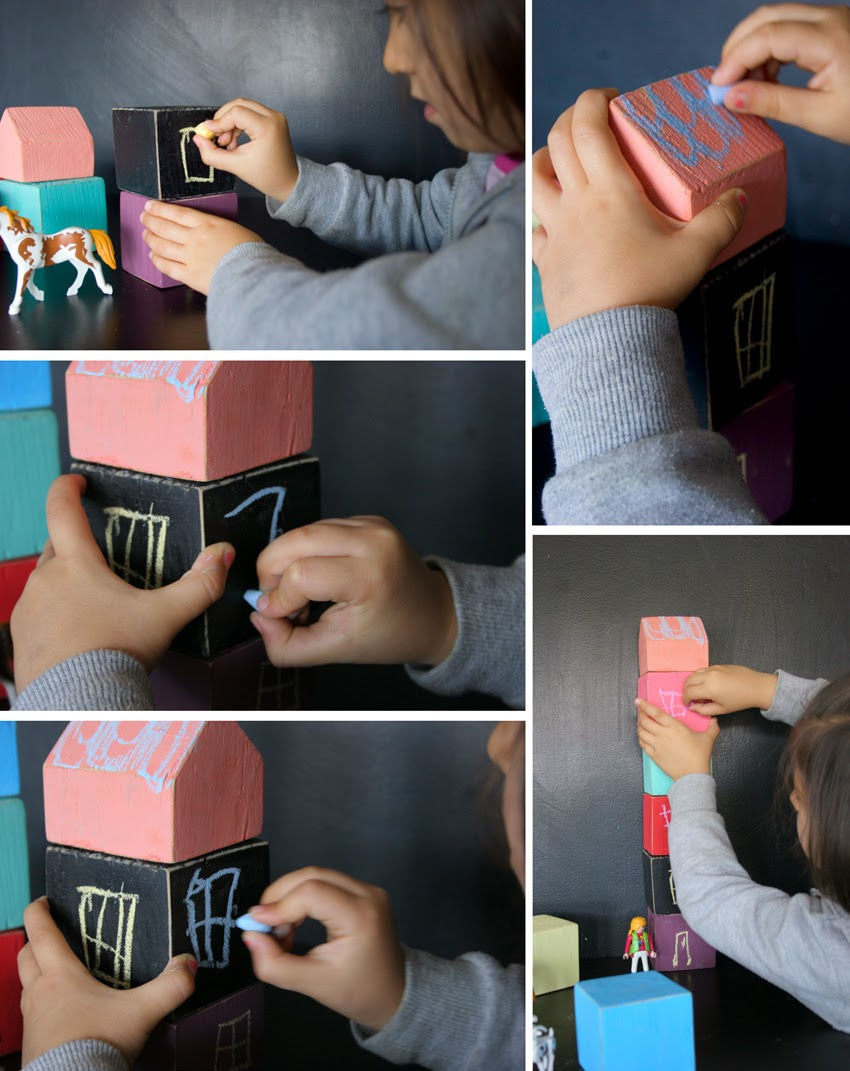 Pequeños arquitectos: Juego de apilables con bloques de palet pintados con chalk paint9