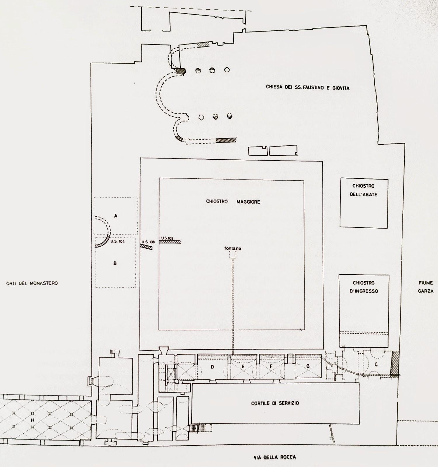 Arte bresciana resti di un 39 abside tra gli scavi for Costruzione scantinato di scantinati