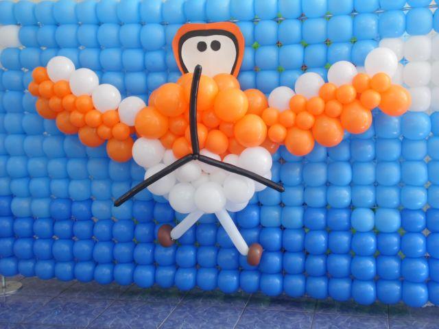 Painel de Balão Avião
