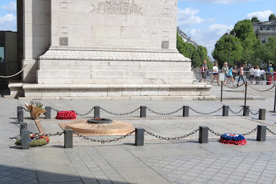 Arc De Triomphe, Tomb Of The Unknown Soldier, Paris, France www.thebrighterwriter.blogspot.com