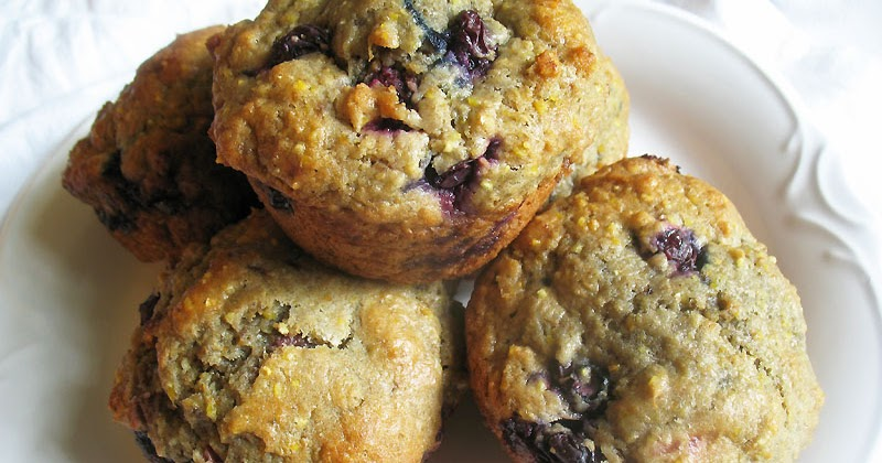 Blueberry Goat Cheese Muffins with Cherry Jam | Lisa's Kitchen ...