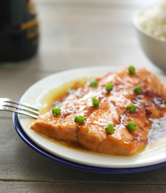 10-Minute Soy-Ginger Salmon Print this recipe!